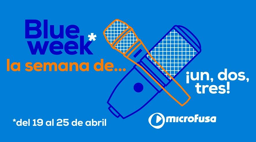 Comienza una nueva Blue Week de microFusa: Micrófonos