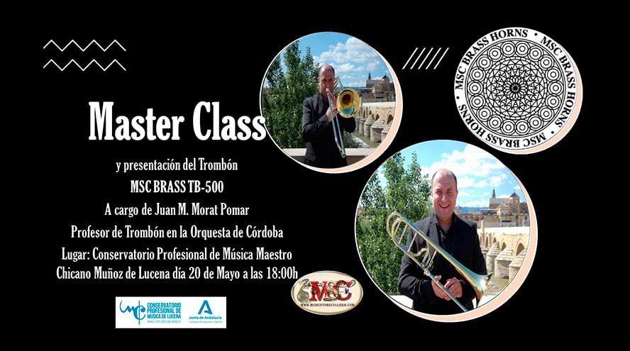 Music Store Cullera estará presente en la MASTER CLASS de trombón del Conservatorio de Lucena