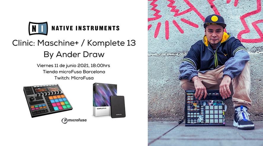 Presentación de Maschine + y Komplete 13 en microFusa Barcelona